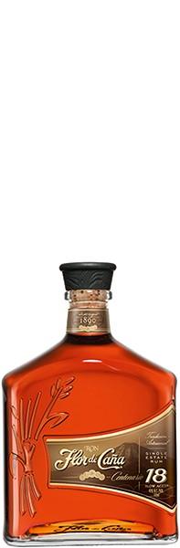 Flor de Caña · Rum Centenario Gold 18 years old 40% 0,7 l