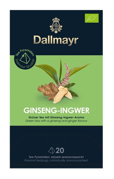 Dallmayr Ginseng Ingwer Bio Grüner Tee mit Ginseng-Ingwer-Aroma