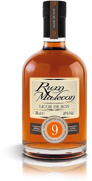 RUM MALECON LICOR DE RON 9 AÑOS 35% 0,7 l